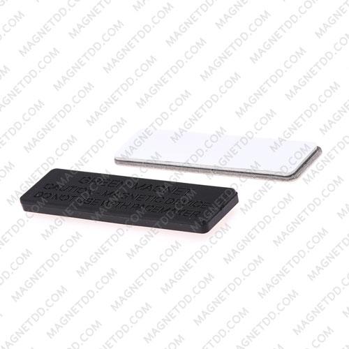 ชุดแม่เหล็ก ติดป้ายชื่อ ฐานพลาสติก 45mm x 13mm พร้อมกาว 2 หน้า แม่เหล็กถาวรนีโอไดเมี่ยม NdFeB (Neodymium)