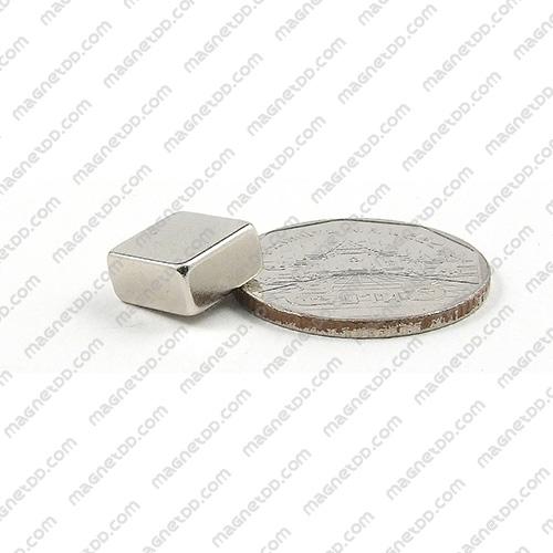 แม่เหล็กแรงสูง Neodymium ขนาด 10mm x 10mm x 4.75mm แม่เหล็กถาวรนีโอไดเมี่ยม NdFeB (Neodymium)