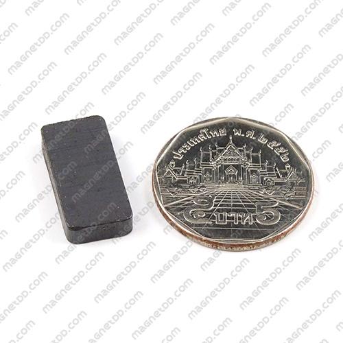 แม่เหล็กเฟอร์ไรท์ Ferrite ขนาด 20mm x 10mm x 4mm แม่เหล็กถาวรเฟอร์ไรท์ (แม่เหล็กดำ) Ferrite