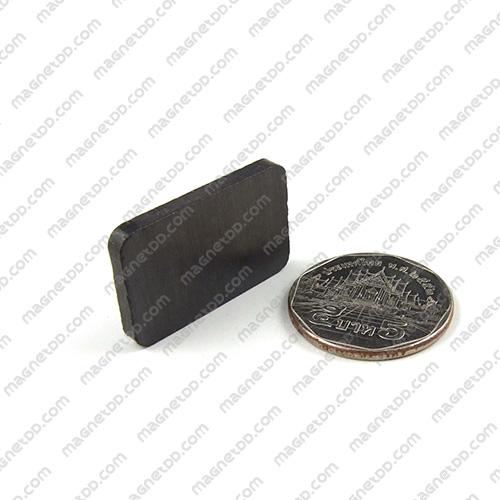 แม่เหล็กเฟอร์ไรท์ Ferrite ขนาด 30mm x 20mm x 3mm แม่เหล็กถาวรเฟอร์ไรท์ (แม่เหล็กดำ) Ferrite