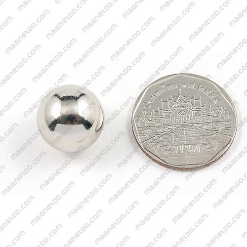 แม่เหล็กแรงสูงทรงกลม Neodymium Ball ขนาด 15mm แม่เหล็กถาวรนีโอไดเมี่ยม NdFeB (Neodymium)
