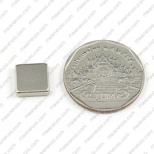 แม่เหล็กแรงสูง Neodymium ขนาด 10mm x 10mm x 2.75mm แม่เหล็กถาวรนีโอไดเมี่ยม NdFeB (Neodymium)