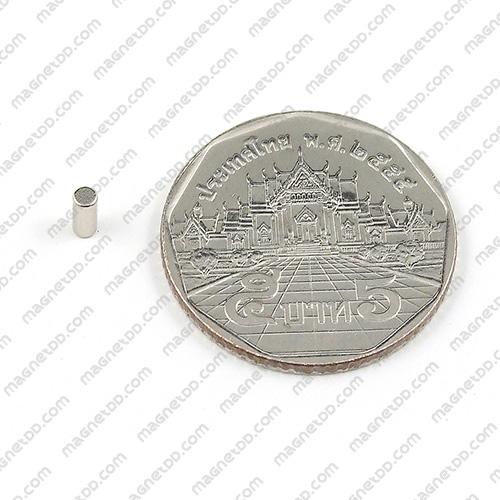 แม่เหล็กแรงสูง Neodymium ขนาด 2mm x 5mm - ชุด 100ชิ้น แม่เหล็กถาวรนีโอไดเมี่ยม NdFeB (Neodymium)