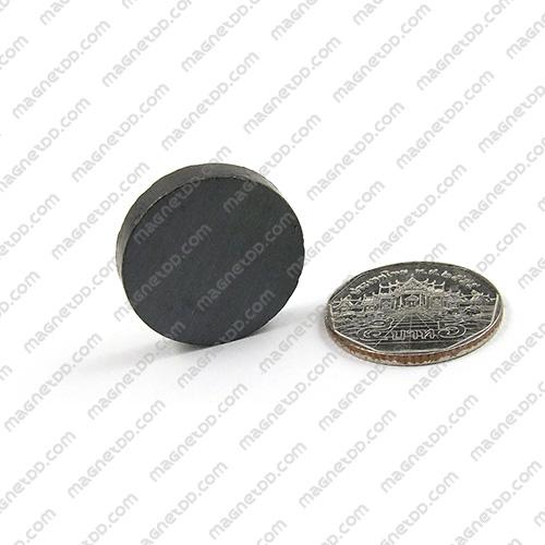 แม่เหล็กเฟอร์ไรท์ Ferrite ขนาด 25mm x 5mm แม่เหล็กถาวรเฟอร์ไรท์ (แม่เหล็กดำ) Ferrite