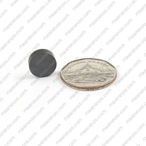 แม่เหล็กเฟอร์ไรท์ Ferrite ขนาด 12mm x 4mm แม่เหล็กถาวรเฟอร์ไรท์ (แม่เหล็กดำ) Ferrite