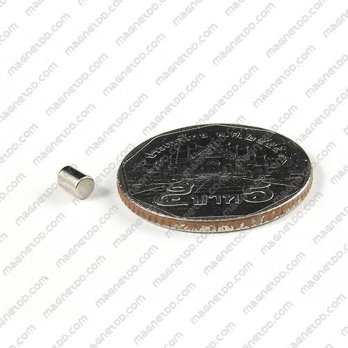 แม่เหล็กแรงสูง Neodymium ขนาด 3mm x 3.75mm - ชุด 100ชิ้น แม่เหล็กถาวรนีโอไดเมี่ยม NdFeB (Neodymium)