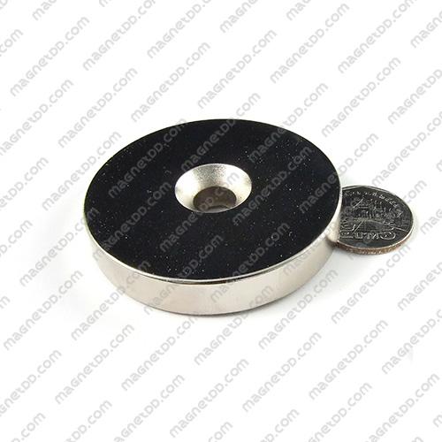แม่เหล็กแรงสูง Neodymium ขนาด 60mm x 10mm วงใน 10mm แม่เหล็กถาวรนีโอไดเมี่ยม NdFeB (Neodymium)