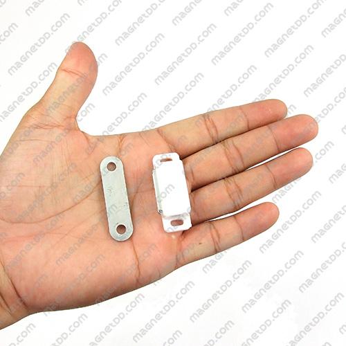 ชุดสลักสัมผัสแม่เหล็ก Yadigao สีขาว 41.5x15x12.5mm แม่เหล็กถาวรเฟอร์ไรท์ (แม่เหล็กดำ) Ferrite