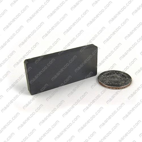 แม่เหล็กเฟอร์ไรท์ Ferrite ขนาด 50mm x 23mm x 5mm แม่เหล็กถาวรเฟอร์ไรท์ (แม่เหล็กดำ) Ferrite