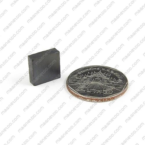 แม่เหล็กเฟอร์ไรท์ 12mm x 12mm x 4mm แม่เหล็กถาวรเฟอร์ไรท์ (แม่เหล็กดำ) Ferrite