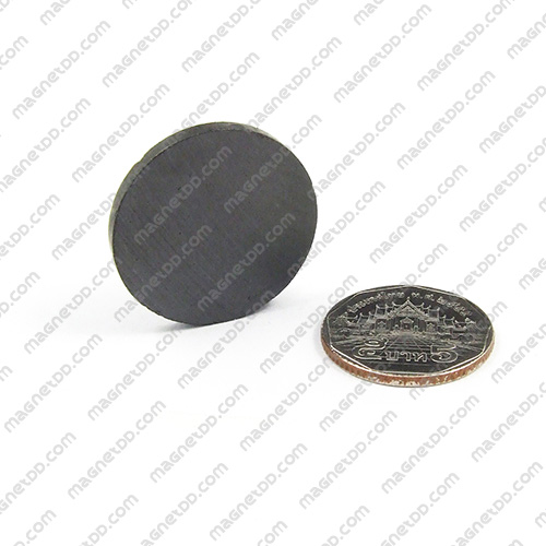 แม่เหล็กเฟอร์ไรท์ Ferrite ขนาด 30mm x 3mm แม่เหล็กถาวรเฟอร์ไรท์ (แม่เหล็กดำ) Ferrite