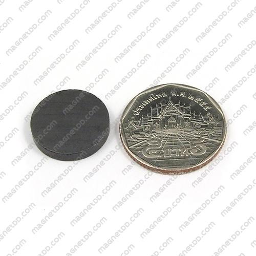แม่เหล็กเฟอร์ไรท์ Ferrite ขนาด 18mm x 3mm แม่เหล็กถาวรเฟอร์ไรท์ (แม่เหล็กดำ) Ferrite