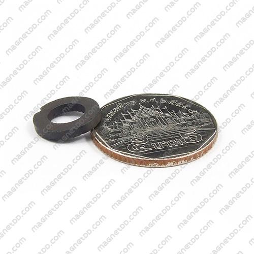 แม่เหล็กเฟอร์ไรท์โดนัทกลมแบน 13mm x 2mm วงใน 7mm แม่เหล็กถาวรเฟอร์ไรท์ (แม่เหล็กดำ) Ferrite