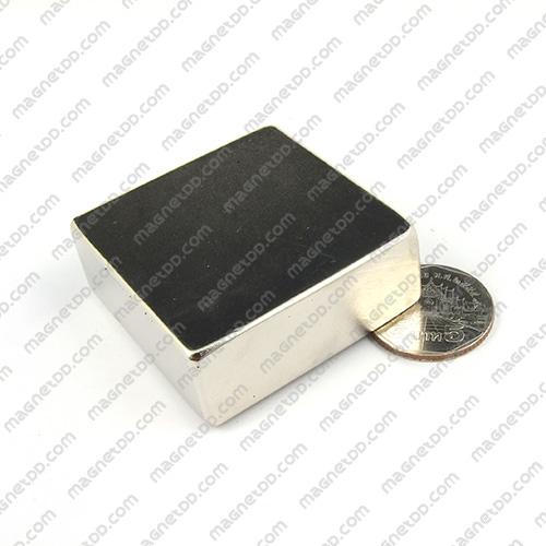แม่เหล็กแรงสูง Neodymium ขนาด 47mm x 47mm x 17mm แม่เหล็กถาวรนีโอไดเมี่ยม NdFeB (Neodymium)
