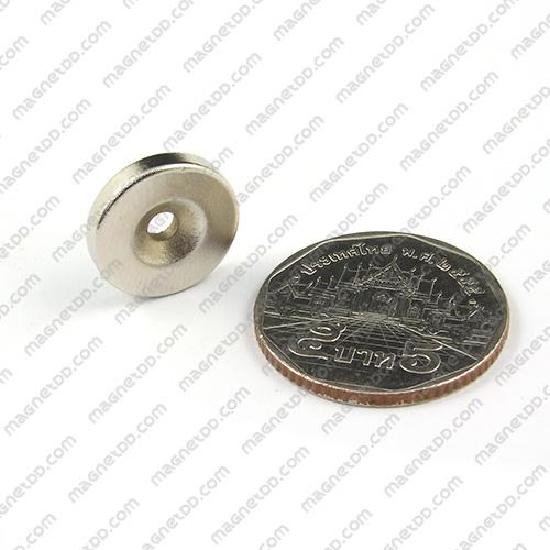 แม่เหล็กแรงสูง Neodymium ขนาด 15mm x 2.75mm วงใน 3mm แม่เหล็กถาวรนีโอไดเมี่ยม NdFeB (Neodymium)