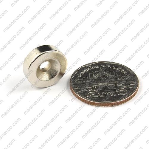 แม่เหล็กแรงสูง Neodymium ขนาด 15mm x 4.75mm วงใน 4mm แม่เหล็กถาวรนีโอไดเมี่ยม NdFeB (Neodymium)