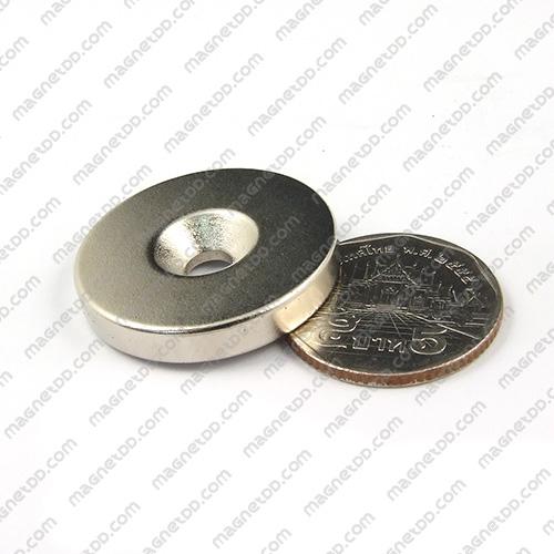 แม่เหล็กแรงสูง Neodymium ขนาด 30mm x 4.75mm วงใน 5mm แม่เหล็กถาวรนีโอไดเมี่ยม NdFeB (Neodymium)