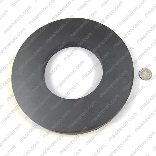 แม่เหล็กเฟอร์ไรท์โดนัท 220mm x 20mm วงใน 110mm แม่เหล็กถาวรเฟอร์ไรท์ (แม่เหล็กดำ) Ferrite