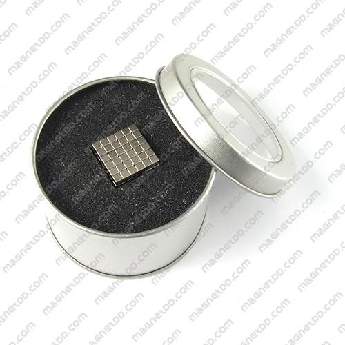 แม่เหล็กแรงสูง สี่เหลี่ยมลูกบาศก์ 3mm x 3mm x 3mm - ชุด 216 ชิ้น แม่เหล็กถาวรนีโอไดเมี่ยม NdFeB (Neodymium)