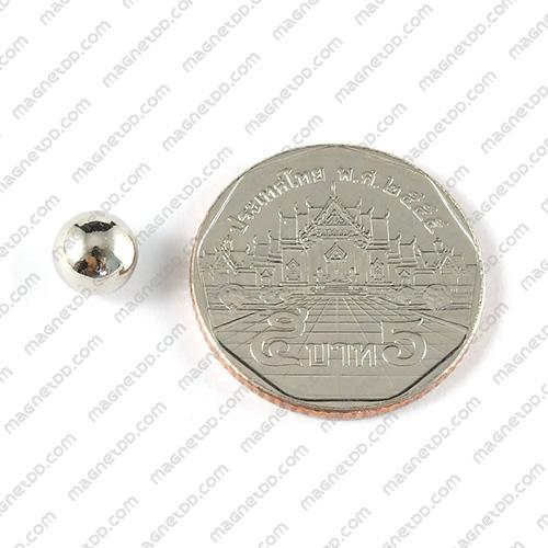 แม่เหล็กแรงสูงทรงกลม Neodymium Ball ขนาด 7mm แม่เหล็กถาวรนีโอไดเมี่ยม NdFeB (Neodymium)