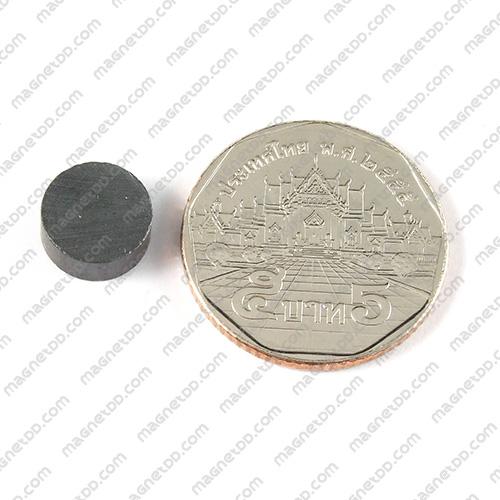 แม่เหล็กเฟอร์ไรท์ Ferrite ขนาด 10mm x 4mm แม่เหล็กถาวรเฟอร์ไรท์ (แม่เหล็กดำ) Ferrite
