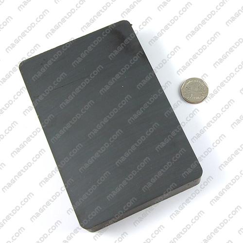 แม่เหล็กเฟอร์ไรท์ Ferrite ขนาด 150mm x 100mm x 25mm แม่เหล็กถาวรเฟอร์ไรท์ (แม่เหล็กดำ) Ferrite