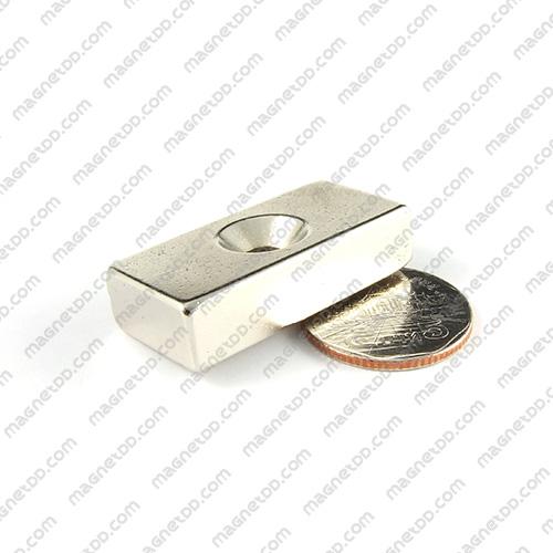 แม่เหล็กแรงสูง Neodymium ขนาด 39mm x 19mm x 10mm รู 5mm แม่เหล็กถาวรนีโอไดเมี่ยม NdFeB (Neodymium)