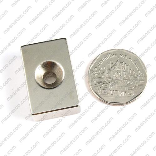 แม่เหล็กแรงสูง Neodymium ขนาด 29mm x 19mm x 10mm รู 5mm แม่เหล็กถาวรนีโอไดเมี่ยม NdFeB (Neodymium)
