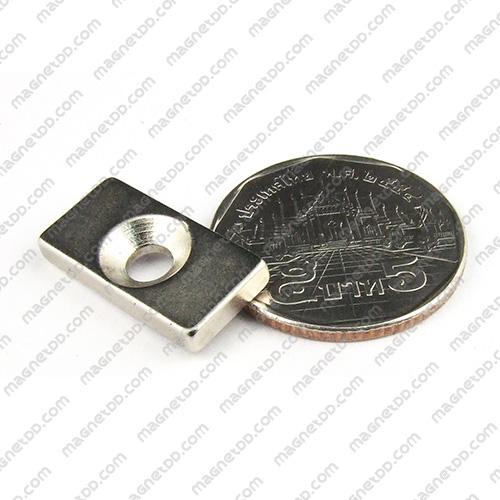 แม่เหล็กแรงสูง Neodymium ขนาด 20mm x 10mm x 2.75mm รู 4mm แม่เหล็กถาวรนีโอไดเมี่ยม NdFeB (Neodymium)