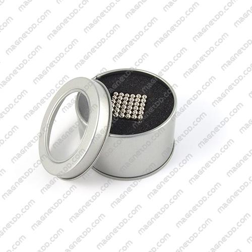 แม่เหล็กแรงสูงทรงกลม ขนาด 4mm – 216 ลูก Magnet Ball แม่เหล็กถาวรนีโอไดเมี่ยม NdFeB (Neodymium)
