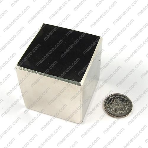 แม่เหล็กแรงสูง Neodymium ขนาด 50mm x 50mm x 50mm แม่เหล็กถาวรนีโอไดเมี่ยม NdFeB (Neodymium)