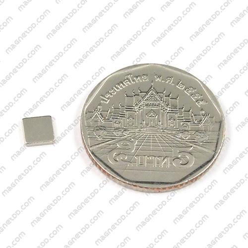 แม่เหล็กแรงสูง Neodymium 5mm x 5mm x 1mm - ชุด 100ชิ้น แม่เหล็กถาวรนีโอไดเมี่ยม NdFeB (Neodymium)