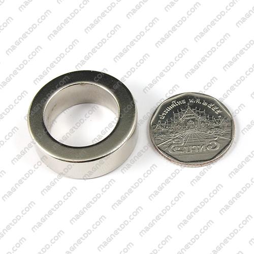 แม่เหล็กแรงสูง Neodymium ขนาด 30mm x 10mm วงใน 20mm แม่เหล็กถาวรนีโอไดเมี่ยม NdFeB (Neodymium)