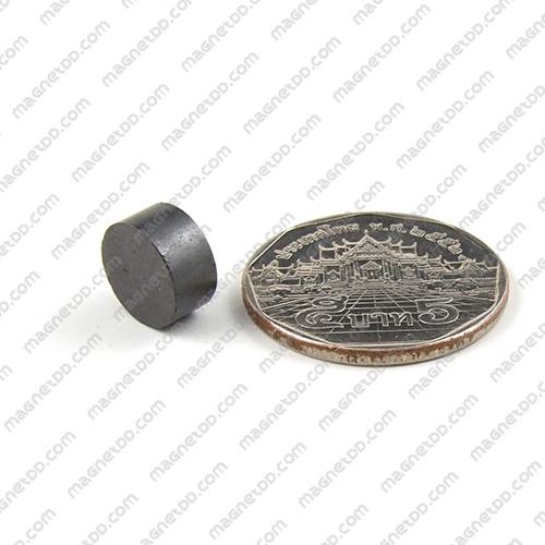 แม่เหล็กเฟอร์ไรท์ Ferrite ขนาด 10mm x 5mm แม่เหล็กถาวรเฟอร์ไรท์ (แม่เหล็กดำ) Ferrite