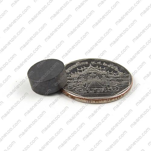 แม่เหล็กเฟอร์ไรท์ Ferrite ขนาด 12mm x 5mm แม่เหล็กถาวรเฟอร์ไรท์ (แม่เหล็กดำ) Ferrite