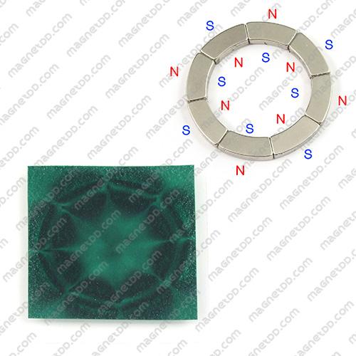 ฟิมล์แสดงเส้นแม่เหล็ก Magnetic Fields View Film - 75mm x 75mm