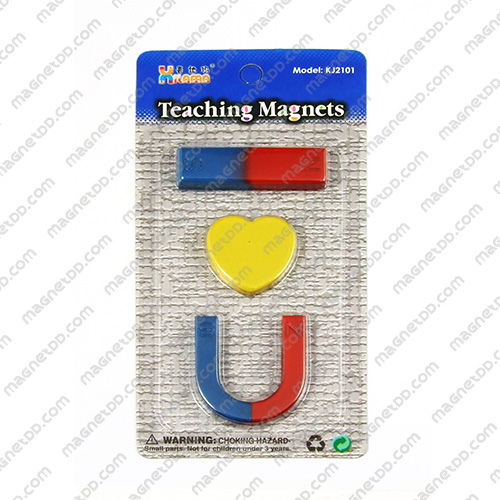 ชุดแม่เหล็กเพื่อการศึกษา 3ชิ้น Teaching Magnet - หัวใจ แม่เหล็กถาวรเฟอร์ไรท์ (แม่เหล็กดำ) Ferrite