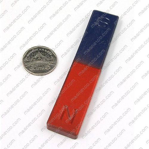 แม่เหล็กเพื่อการศึกษา สี่เหลี่ยม ขนาด 100mm x 20mm x 7mm แม่เหล็กถาวรเฟอร์ไรท์ (แม่เหล็กดำ) Ferrite