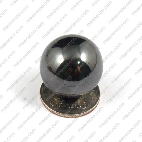 แม่เหล็ก Magnetic Hematite ทรงกลม ขนาด 25mm Hematite เฮมาไทต์