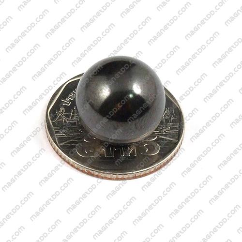 แม่เหล็ก Magnetic Hematite ทรงกลม ขนาด 15mm Hematite เฮมาไทต์