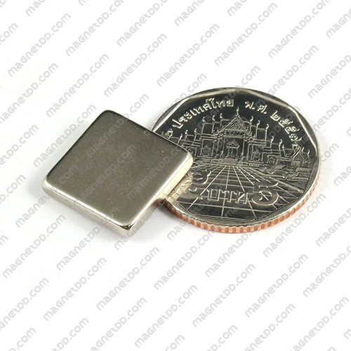 แม่เหล็กแรงสูง Neodymium ขนาด 15mm x 15mm x 3mm แม่เหล็กถาวรนีโอไดเมี่ยม NdFeB (Neodymium)