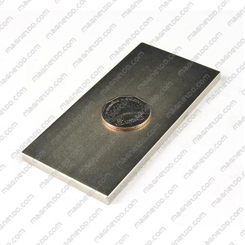 แม่เหล็กแรงสูง Neodymium ขนาด 100mm x 50mm x 5mm แม่เหล็กถาวรนีโอไดเมี่ยม NdFeB (Neodymium)