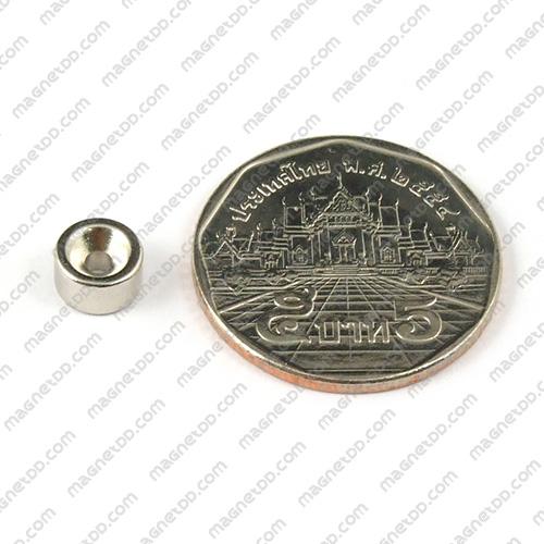 แม่เหล็กแรงสูง Neodymium 7mm x 3.75mm วงใน 2mm แม่เหล็กถาวรนีโอไดเมี่ยม NdFeB (Neodymium)