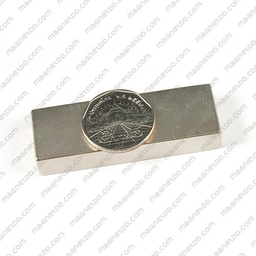 แม่เหล็กแรงสูง Neodymium ขนาด 60mm x 20mm x 10mm แม่เหล็กถาวรนีโอไดเมี่ยม NdFeB (Neodymium)