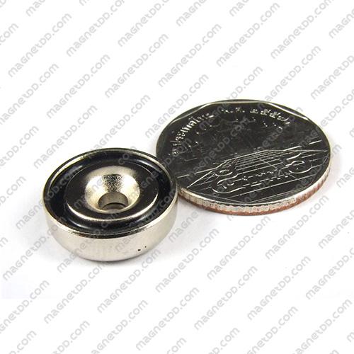 Neodymium Magnetic Cups ขนาด 16mm x 5mm รู 3.5mm แม่เหล็กถาวรนีโอไดเมี่ยม NdFeB (Neodymium)