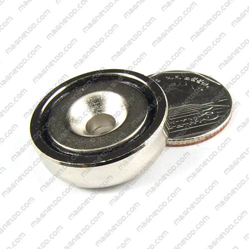 Neodymium Magnetic Cups ขนาด 25mm x 8mm รู 5.5mm แม่เหล็กถาวรนีโอไดเมี่ยม NdFeB (Neodymium)