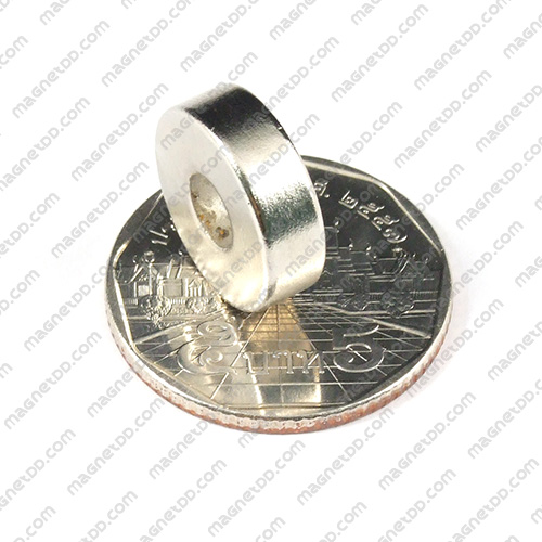 แม่เหล็กแรงสูง Neodymium ขนาด 15mm x 4.75mm รู 5mm แม่เหล็กถาวรนีโอไดเมี่ยม NdFeB (Neodymium)