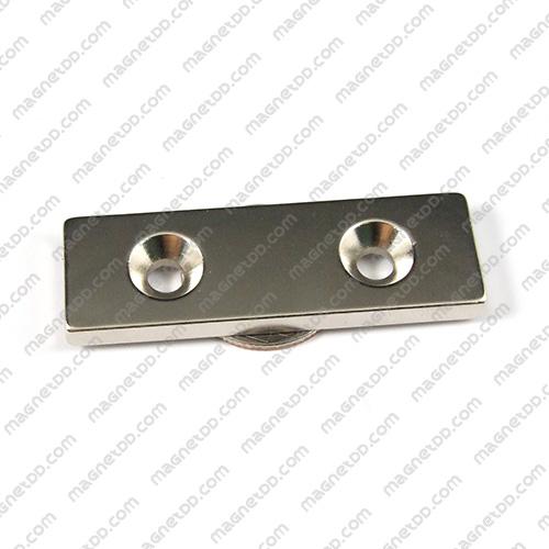 แม่เหล็กแรงสูง Neodymium ขนาด 59mm x 19mm x 4.75mm รู 5mm แม่เหล็กถาวรนีโอไดเมี่ยม NdFeB (Neodymium)