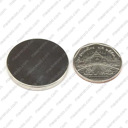 แม่เหล็กแรงสูง Neodymium ขนาด 30mm x 3mm แม่เหล็กถาวรนีโอไดเมี่ยม NdFeB (Neodymium)
