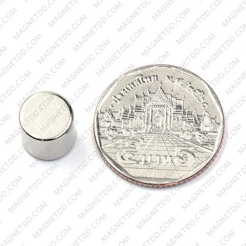 แม่เหล็กแรงสูง Neodymium ขนาด 10mm x 10mm - เกรด B แม่เหล็กถาวรนีโอไดเมี่ยม NdFeB (Neodymium)